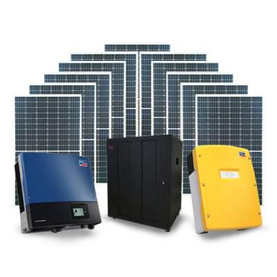 SMA 3Phase + Risen Mono Perc 17kW Solar + BYD 41.4kW Battery Off Grid