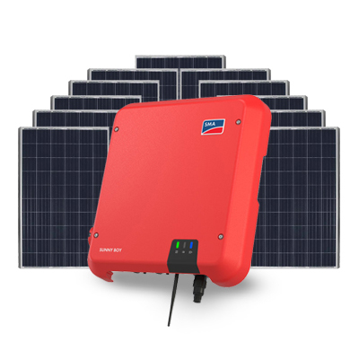 SMA inverter and Phono 6.6kW Solar system