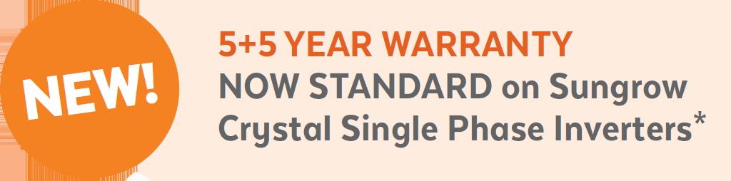 Sungrow 10yr warranty